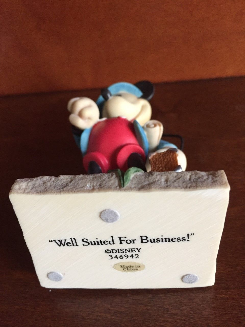 Mickey Mouse Business Sales Man Rep Disney Enesco Figurine Statue Collectible