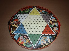 Vintage Chinese Checkers Tin Metal PIXIE GAME by STEVEN - $23.36