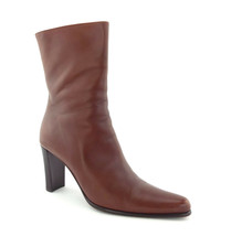 VIA SPIGA Size 7.5 Brown Italian Leather High Ankle Boots 7 1/2 - $79.00