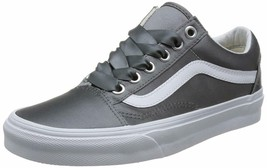 Vans Women's 11.5 Old Skool Grey (Satin Lux) Gray/True White Mens 10 - $74.71
