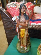 Great Collectible Vintage Western Americana Chalk Statue 1982 Signed HS ... - $68.89