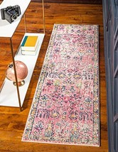 Rugs.com El Paso Collection Rug – 6 Ft Runner Pink Medium Rug Perfect for Hallwa - $69.00