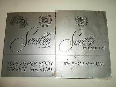 1976 Cadillac SEVILLE Service Shop Repair Manual 2 VOL SET 76 WATER DAMAGED