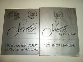 1976 Cadillac SEVILLE Service Shop Repair Manual 2 VOL SET 76 WATER DAMAGED - $16.31