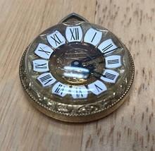 Vintage Bercona High Dome Roman Hand-Winding Necklace Pendant Pocket Wat... - $18.55