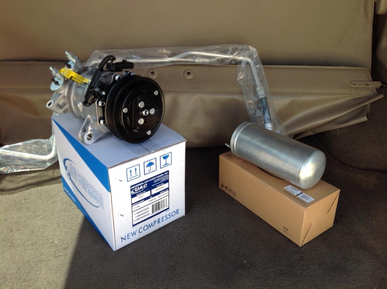 02 05 jeep liberty 3.7 ac air conditioning compressor repair kit  3