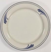 "Lenox Chinastone Brushstrokes Blue 4-Salad Plates Blue Trim 8 1/2 ""D - $39.59"