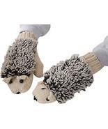 Cute Hedgehog Mitten Gloves Winter Gloves Women Cotton Double Layer Beig... - $13.61
