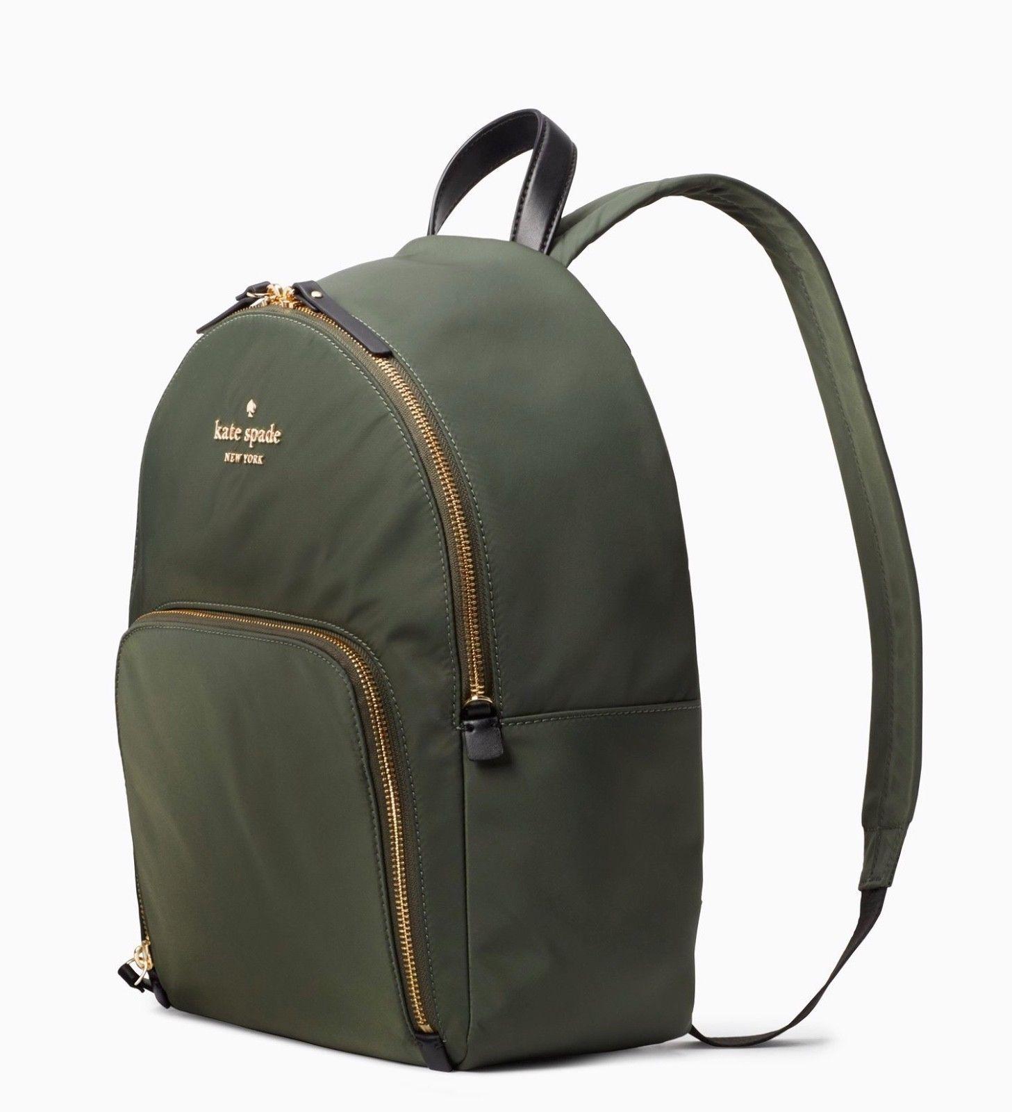 f17a2ebbe22d3 Kate Spade Nylon Backpack watson lane hartley ~NWT  198~ Ever Green