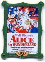 Alice in  Wonderland  Authentic  Disney pin dated   1951 in original card  - $18.00