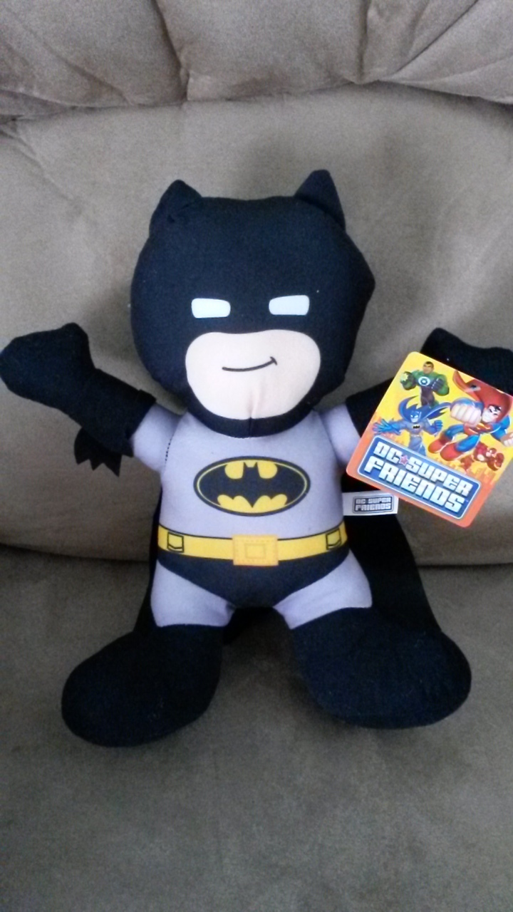 Primary image for BATMAN D. C. SUPER FRIENDS BLACK Brand New Licensed Plush NWT New With Tags 12""