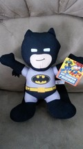 BATMAN D. C. SUPER FRIENDS BLACK Brand New Licensed Plush NWT New With T... - $14.99
