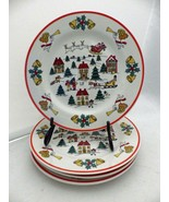 Jamestown China - The Joy of Christmas - set/lot of 4 Salad plates - 7 1... - $23.76