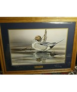 """Limited Edition Signed Sherrie Russell Meline """"Solitaire"""" Duck Print FRAMED - $179.55"""