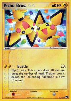 Pichu Bros. 16/17 Common POP 3 Promo Pokemon Card