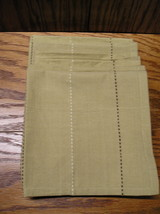 6 Brown Cotton Napkins With Dark Brown And White Stripped Stitching 16 x... - $8.00