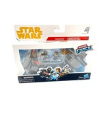 Star Wars Micro Force Poe's X-wing Fighter vs. Kylo Ren's TIE Silencer 2pk New - $24.67