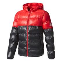Adidas Kids Boys Jacket Youth Squad Padded Training Running Coat Red CE9... - $76.95
