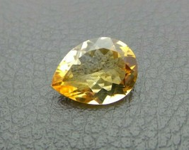 Natural Citrine Loose Gemstone Pear Cut Size 12X8 mm S1004 - $23.74