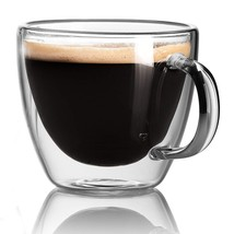 Cappuccino Cups - Double Wall Insulated Glasses - Espresso Mug Set of 2.... - $19.52