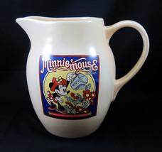 Minnie Mouse Treasure Craft Water Lemonade Pitcher Walt Disney Ceramic - $29.99