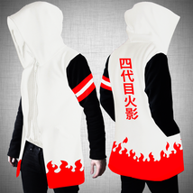 ALL SIZE NARUTO HOKAGE 4 YONDAIME STRIPE HOODIE SWEATER COSPLAY JACKET - $35.01