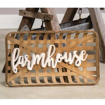 Farmhouse Tobacco Basket Wall Art - $69.68