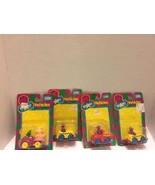 Barney Die Cast Cars 4  Fire Engine Taxi Cab Baby Bops Birthday Mobile 1993 - $14.01