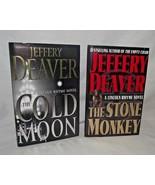 Stone Monkey Jeffery Deaver Lot Lincoln Rhyme Mystery Cold Moon Novel HB... - $14.84