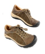 Keen Presidio Brown Leather, Nubuck Lace Up Walking Hiking Shoes Women's 7 - $40.50