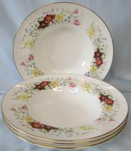 Royal Albert Spring Morning Rim Soup or Salad Bowl Set of 4 - $48.40