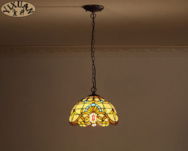 Pastoral Tiffany Baroque Pendant Light Ceiling Lamp Home Lighting Fixtur... - $84.97