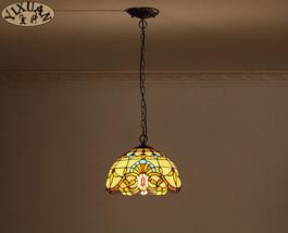 "Pastoral Tiffany Baroque Pendant Light Ceiling Lamp Home Lighting Fixture 11"" - $84.97"