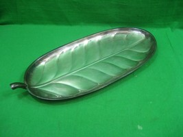 Vintage Leaf Silver Plated Oval Serving Tray International Silver Co Mod... - $16.79