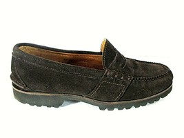 Ralph Lauren Brown Suede Driving Penny Loafer Casual Shoes Men's 8 D (SM2) - $83.99