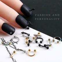 10pcs Fashion Nail Art Accessories Metal Arrow Rivet Punk Spike Decorati... - $6.42+