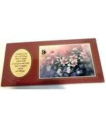 VTG Stapco BUTTERFLY FLORAL Christian Art Plaque Burgundy 12 x 6 Wood AS IS 1994 - €10,13 EUR