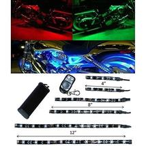 OCTANE LIGHTING 6Pc Motorcycle Bike Rgb Under Glow Frame Engine Motor Li... - $34.60