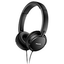 Philips SHL5005/27 Extra Bass Wired On-The-Ear Headphones with Mic - Black - $33.95