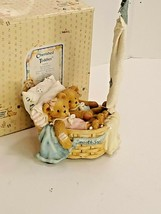 "Cherished Teddies Boy & Girl ""Smooth Sailing"" Music Box #624926 1993 - $14.01"