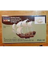 ArtMinds Wooden Puzzle, Military Sailing Ship, Frigate 83 Pieces NIB For... - $18.80