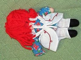 """8"""" KNICKERBOCKER RAGGEDY ANN ANDY Vintage Applause Dolls Embroidered Eyes TAIWAN image 9"""
