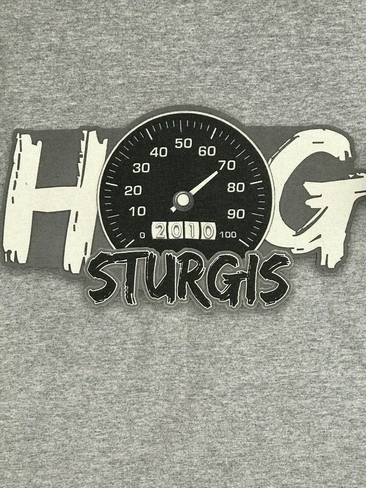 XL HOG Harley Owners Group Davidson Gray T Shirt 2010 Sturgis image 7
