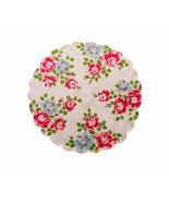 Pretty Climbing Roses Red Blue Flower Bouquet Handkerchief Green Vine Le... - $10.90