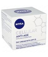 NIVEA Cellular Skin Rejuvenation Day Cream SPF15 With Hyaluronic Acid & ... - $24.29