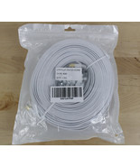 Cat6 Ethernet Network Cable Cord Flat 200' Feet White with Cable Clips - $29.69