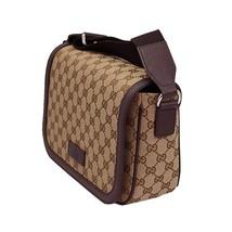 Gucci Womens' GG Beige Canvas Cross Body Messenger Bag 449172 - $895.00