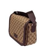 Gucci Womens' GG Beige Canvas Cross Body Messenger Bag 449172 - $1,400.00