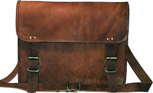 390e2b4fe Jaald genuine Leather Messenger Bag Laptop Briefcase Satchel Mens shoulder  Bag