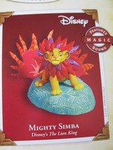 2005 Mighty Simba The Lion King Disney Hallmark Ornament - $22.49